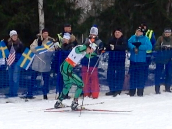 A blurry photo to go with how I was feeling in the 15km skate